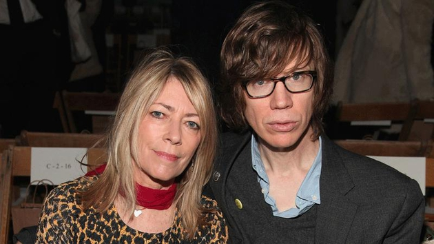 Kim Gordon with fellow Sonic Youth member Thurston Moore
