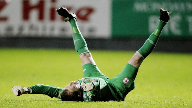 Goalkeeper Dean Delany is head over heels after signing for Bohemians