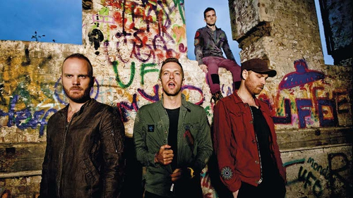 Coldplay left to right: Will Champion, Chris Martin, Guy Berryman, Jonny Buckland