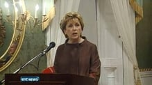 Nine News: Mary McAleese guest of honour in final official function outside State