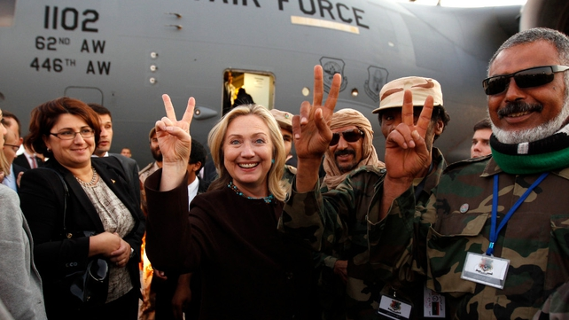 Mrs Clinton is the most senior US official to come to Tripoli since Muammar Gaddafi's rule ended in August
