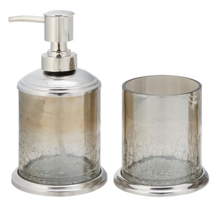 House of Fraser (Linea) Soap Dispenser €17 and Crackle Glass Tumbler €12