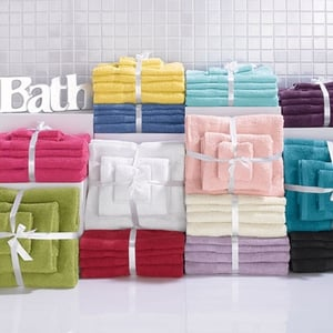 Littlewoods selectrion of plain-dyed cotton towels, Buy One Get One Free, €14