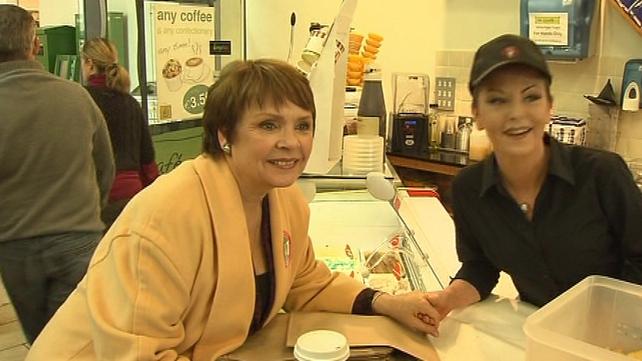 Dana meets people in Wexford