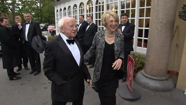 Michael D Higgins attends Ernst & Young Entrepreneur of the Year Awards