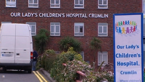 The girl died at Our Lady's Children's Hospital Crumlin