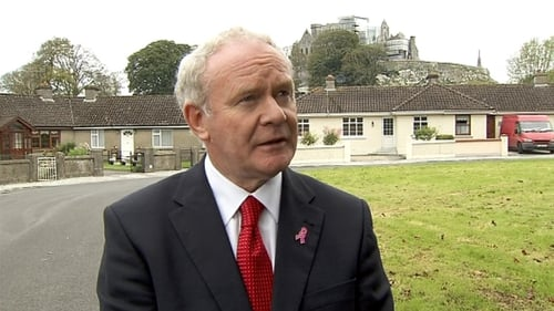 Martin McGuinness said he attended Windsor Park once as a child