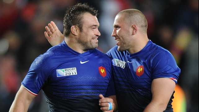 "Nicolas Mas (left) - ""New Zealand have great impact at the scrum and you have to meet them."""