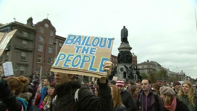 2,000 marched in Dublin against austerity measures