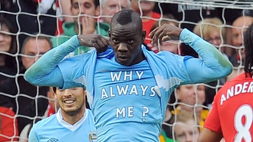 Mario Balotelli's famous 'Why Always Me?' celebration would not be allowed under the new rules
