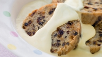 Spotted Dick - Steamed Sultana & Apple Suet Sponge - A comfort pudd, especially with the Crème Anglaise/Vanilla Custard recipe below.