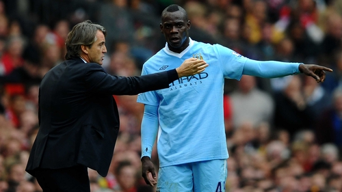 Roberto Mancini admits that working with Mario Balotelli can be frustrating