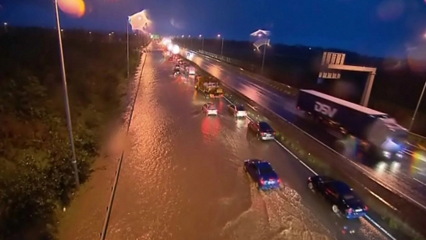 Flooding on the N7 this evening