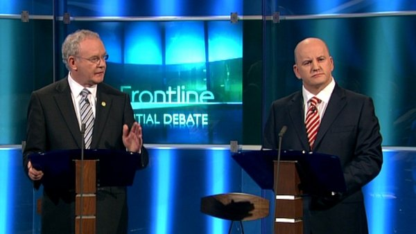 Martin McGuinness and Seán Gallagher clashed during the debate