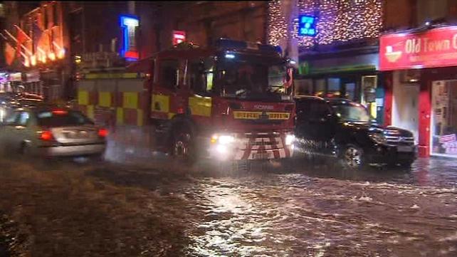 Flooding as seen on Camden Street