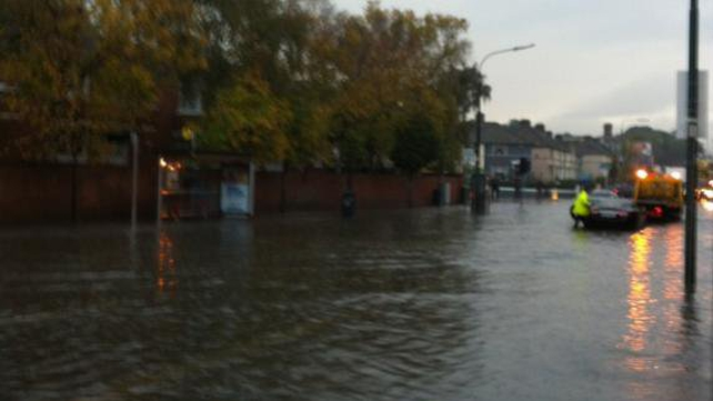 Harold's Cross Road this morning (Photo: @Eimearfitzy)