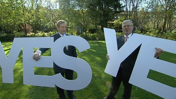 Mr Kenny and Mr Gilmore appealed for yes votes