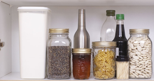 Plan your meals and use your essentials from the cupboards