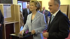 Mary and Martin McAleese have been presented with an award in Tipperary