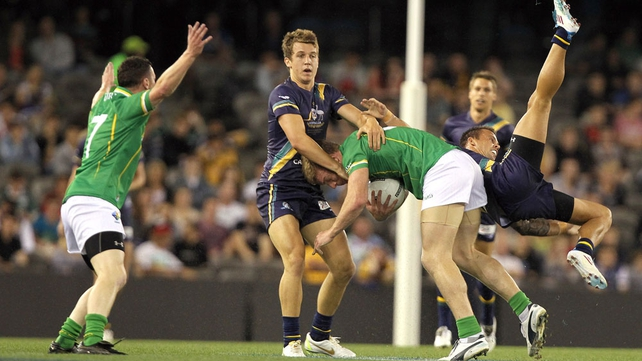 Australia and Ireland met at Etihad Stadium to contest the first Test of the 2011 International Rules Series