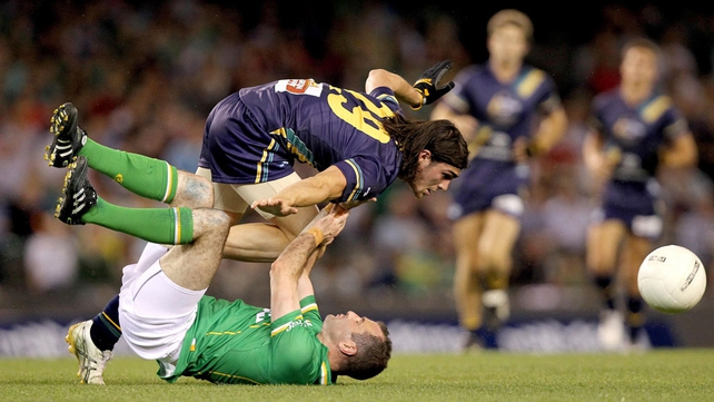 Steven McDonnell is trampled by Easton Wood