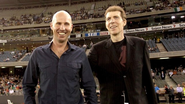 Brian and Jim Stynes were both in attendance for the Test match