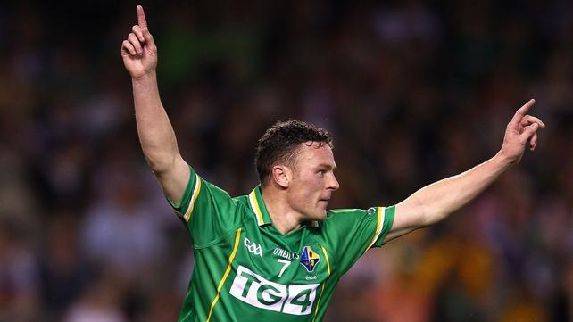 Leighton Glynn celebrates his goal