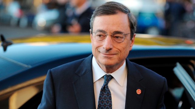 Mario Draghi warns of increased risks to euro zone economy