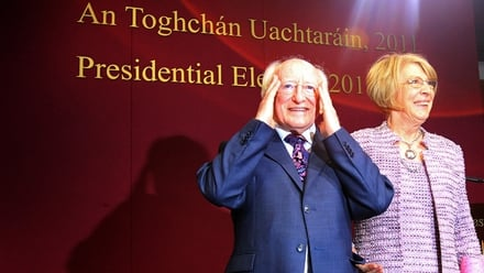 Michael D Higgins pictured at Dublin Castle last night
