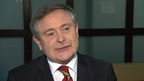 Brendan Howlin has called for a renegotiation of the terms of Ireland's debt