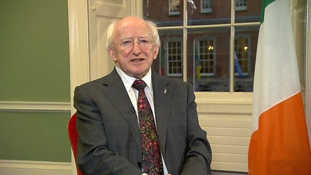 Michael D Higgins was elected ninth President of Ireland