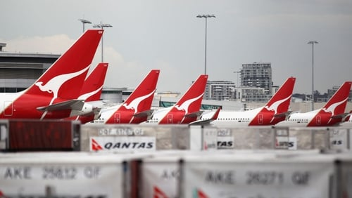 Qantas posted a first-half net loss of AU$235m