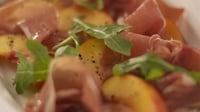 Parma ham and nectarine salad - This dish requires just tossing everything together in a bowl!