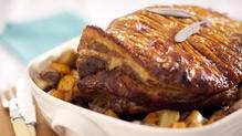 Slow roast shoulder of pork