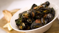 Spanish mussels - Serve with lemon wedges and crusty white bread.