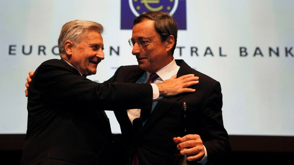 Mario Draghi replaced Jean Claude Trichet last month