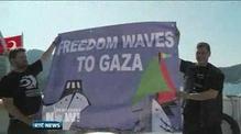 One News: Israeli military monitors Gaza aid flotilla