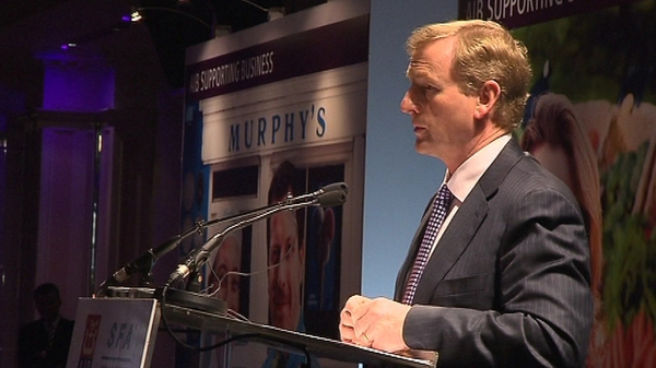 Enda Kenny was speaking at the Small Firms Association lunch