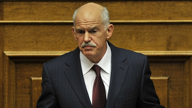 George Papandreou has indicated that he will stand down