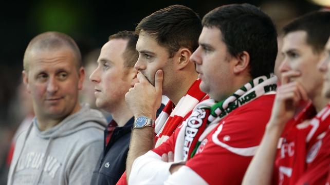 Sligo fans look on apprehensively