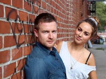 Aidan Power and Daniella Moyles