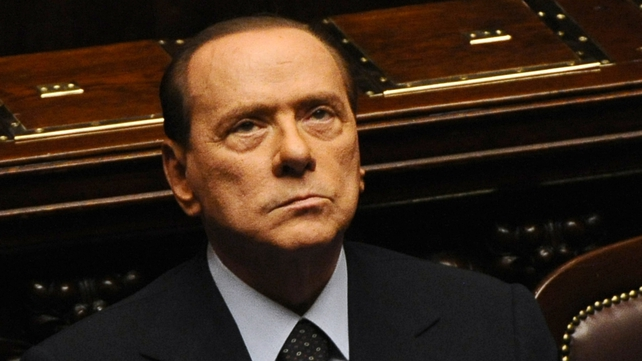 Former Italian prime minister Silvio Berlusconi tells journalists he intends to run for a fifth term