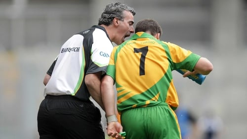 Jim McGuiness and Kevin Cassidy during Donegal's dramatic All-Ireland quarter-final clash with Kildare