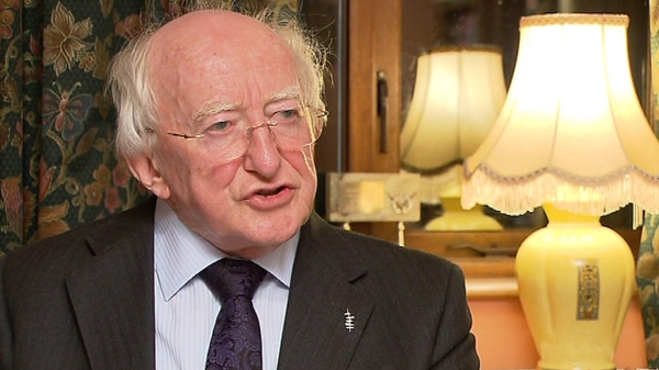 Michael D Higgins will spend Christmas with his family at the Áras