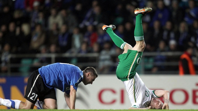 ...it was a poor and ill-timed tackle by the Estonian...