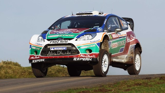 Jari-Matti Latvala thrived in slippery conditions in Wales