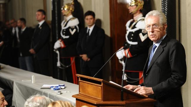 Mario Monti succeeds Silvio Berlusconi