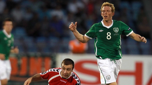 Paul Green has been called in to the Ireland squad as midfield cover following David Meyler's withdrawal