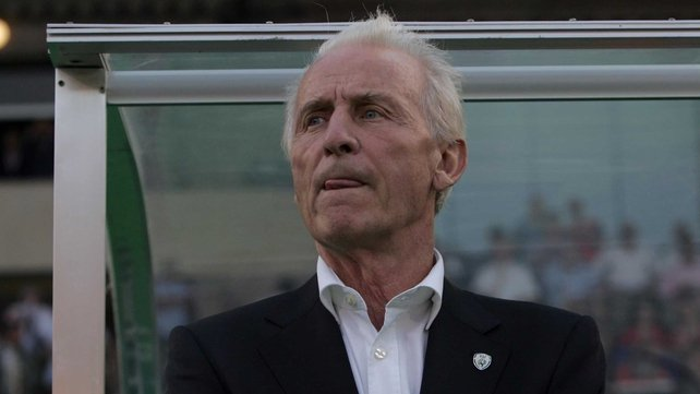 Giovanni Trapattoni began another campaign with Ireland after the disappointment in Paris