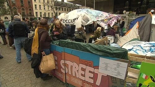Camp established in solidarity with Occupy Wall Street